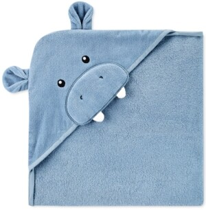 Carter's Baby Boys Hooded Cotton Hippo Towel