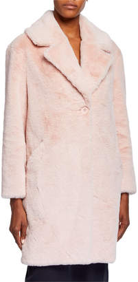 Adrienne Landau Plush Faux Fur Coat, Pink