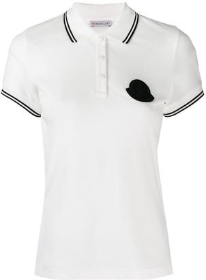 Moncler Logo Plaque Polo Shirt