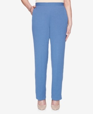 Alfred Dunner Petite Palo Alto Pull-On Crinkle Pants