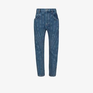 Thierry Mugler Seam Detail Boyfriend Jeans