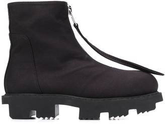 Rick Owens Zip-Up Platform Boots