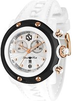 Glam Rock Miami Beach GR2511 46mm Plastic Case White Silicone Mineral Men's & Women's Watch