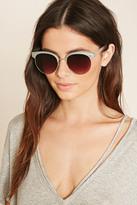 Forever 21 Contrast Browline Sunglasses