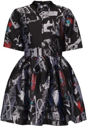 Marques Almeida Riot Girl brocade mini dress