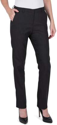 Haggar Petite Straight-Leg Stretch Pants