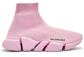 Balenciaga Speed 2.0 Sock Trainers - Light Pink