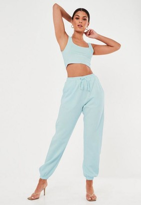 Missguided Blue Oversized 90S Joggers