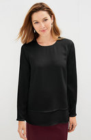 J. Jill Layered Long-Sleeve Top