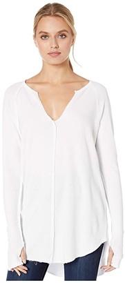 LAmade Teagan Thermal Tunic (White) Women's Clothing