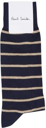 Paul Smith Cotton Metallic Stripe Socks