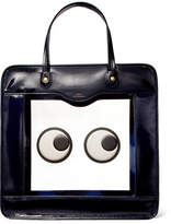 Anya Hindmarch Rainy Day Appliquéd Perspex And Patent-leather Tote - Navy