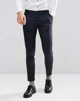 Jack and Jones Skinny Suit Pants In Brushed Check