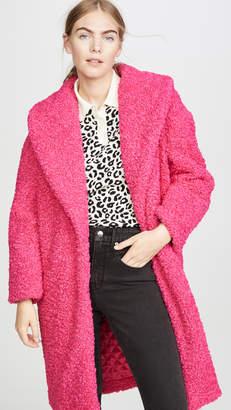 Alice + Olivia Ora Faux Fur Long Oversized Collar Coat