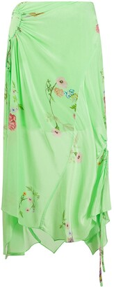 Preen Line Arya gathered floral skirt