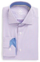 Bugatchi Trim Fit Microcheck Dress Shirt