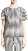 Max Mara Women's Ares Wool Blend Houndstooth Top