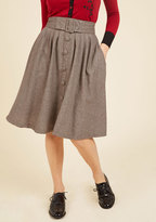 Intern of Fate Midi Skirt in Latte in 1X