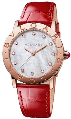 Bvlgari Rose Gold, Mother-of-Pearl and Diamond Watch 33mm