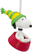 Hallmark Resin Figural Snoopy in Dog Dish Ornament