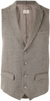 Hackett peaked lapel waistcoat - men - Linen/Flax/Rayon - 48
