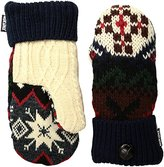 Muk Luks Women's Lodge Potholder Mittens-Traditional Marled