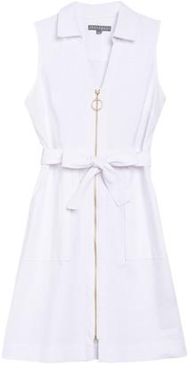 Sharagano Venice O-Ring Zip Sleeveless Shirt Dress