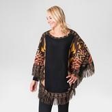 Muk Luks Women's Knit Fringe Ponchos