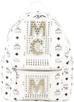 MCM Stripe Crystal Backpack