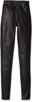 Selected Women's SFSYLVIA MW STRETCH LEATHER LEGGIN NOOS Trouser
