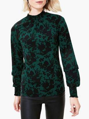 Oasis Ruffle Sleeve Blouse, Green