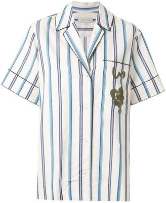 Lee Mathews Short Sleeved Striped Shirt