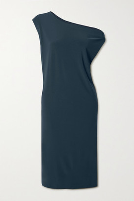 Norma Kamali Stretch-jersey Dress - Storm blue