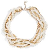 BaubleBar Maxine Faux Pearl & Chain Multistrand Collar Necklace
