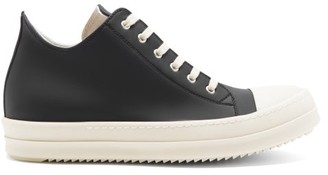 Rick Owens Ramones Rubber Trainers - Black White