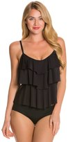 Kenneth Cole Reaction Solid Ruffle Tiered Tankini Top 8123572