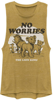 Disney Juniors' Lion King No Worries Back Festival Muscle Tank Top
