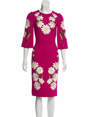 Dolce & Gabbana Wool Knee-Length Dress Wool