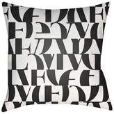 Surya Love Print Throw Pillow