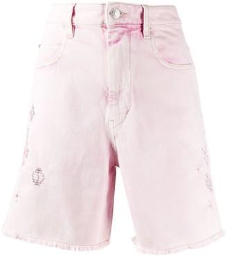 Etoile Isabel Marant Embroidered Denim Shorts