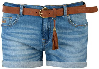 Soul Cal SoulCal Turned Up Belted Shorts Ladies