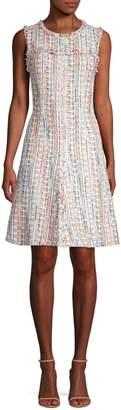 Elie Tahari Dean Tweed A-Line Dress