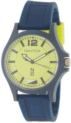 Nautica Men's Quartz Silicone Strap Watch, 40mm