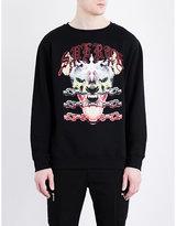 Marcelo Burlon Ramirez Wolf Chain Cotton-jersey Sweatshirt