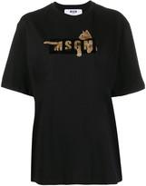 MSGM cat logo-print T-shirt