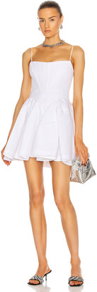 Alexander Wang Fit and Flare Corset Mini Dress in White | FWRD