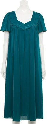 Petite Miss Elaine Essentials Short Sleeve Night Gown