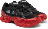Raf Simons + adidas Ozweego III Leather and Mesh Sneakers