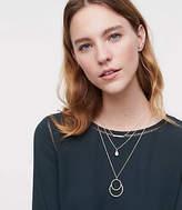 LOFT Crystal Pendant Necklace Set