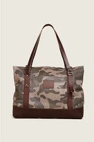 True Religion Camo Fold Over Duffle Bag